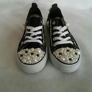 Other - New Girl black jean bling out sneakers